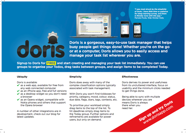 doris geek 'n rolla flyer